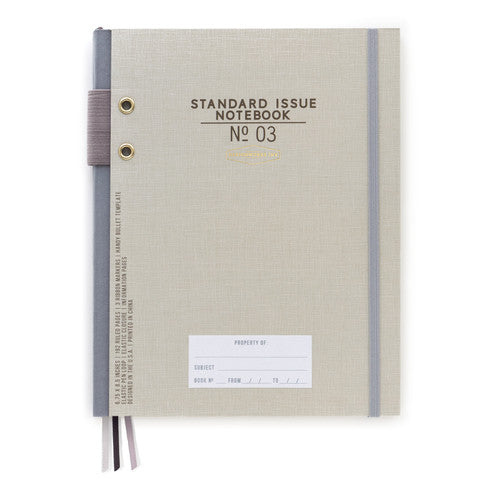 Standard Issue Notebook No 03 - Taupe