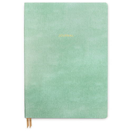 Bonded Leather Journal - Large Green