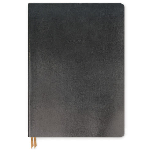 Bonded Leather Journal - Medium Black