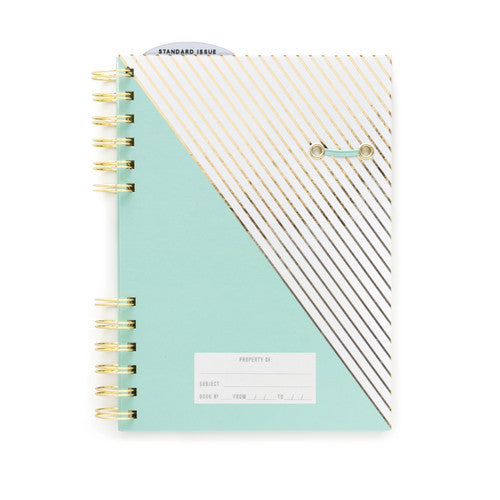 Mint Notebook with Gold Foil Stripe