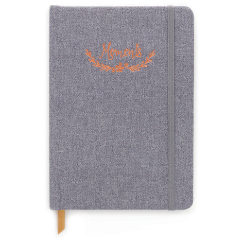 Moments Grey Cloth Notebook