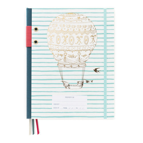 Hot Air Balloon Striped Notebook