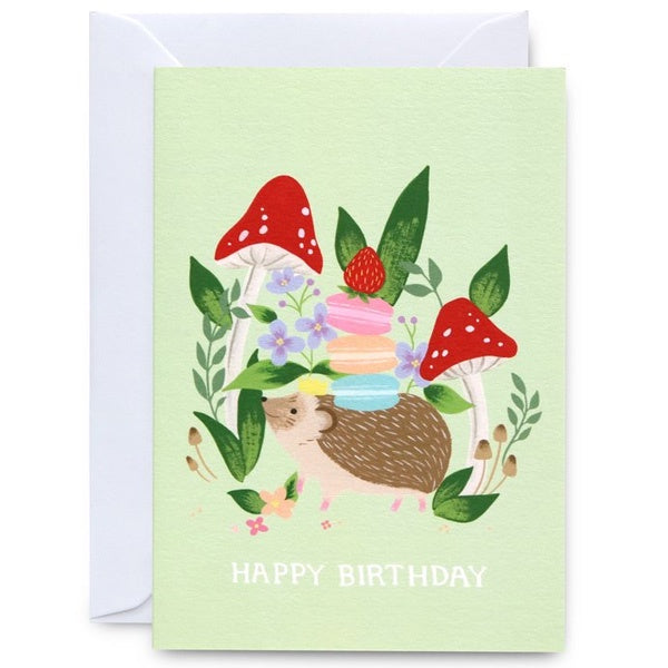 Happy Birthday Hedgehog King Card