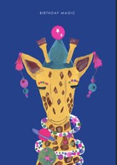 Magic Party Giraffe Card
