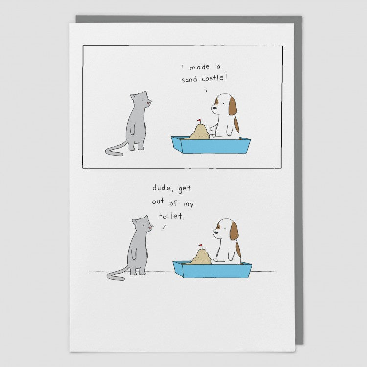 Sandcastle Card by Liz Climo