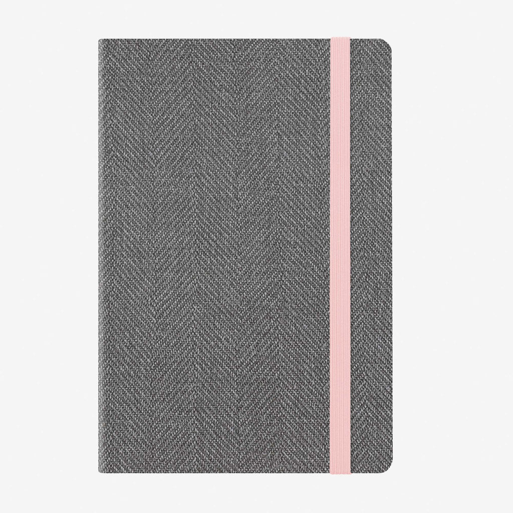 Medium Weekly Diary With Notebook 12 Month 2020 - Grey Tweed
