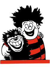 Dennis The Menace Hugs Gnasher Blank Card