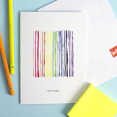 Streaky Rainbow Card