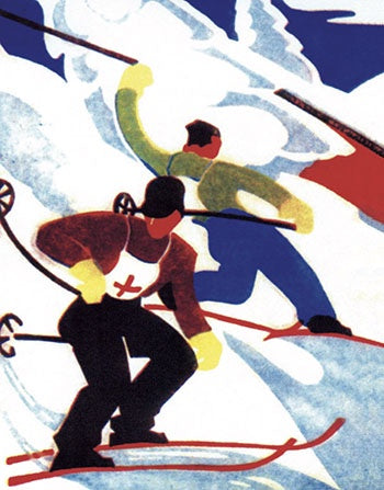 Ski Race Pack of 5 Christmas Cards