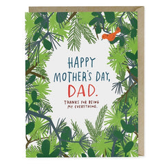 Happy Mothers Day, Dad Card