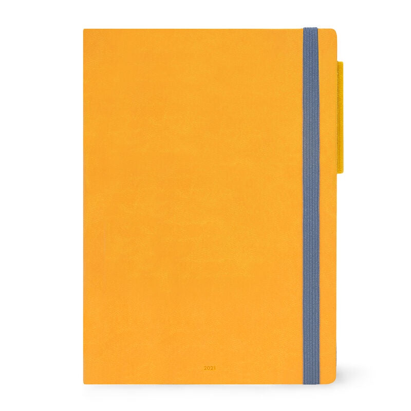 Large Daily Diary 2021 Yellow