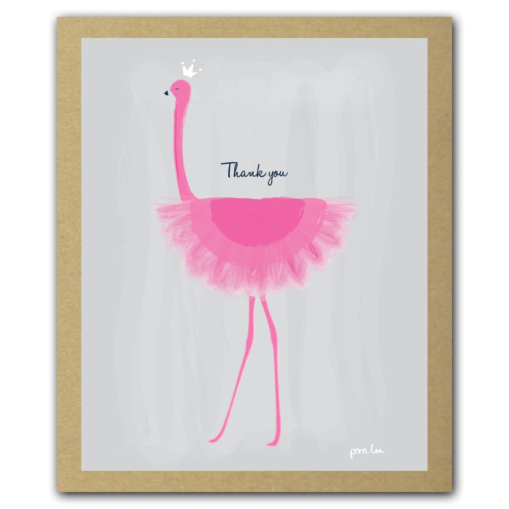 Her Majesty Flamingo Thank You Card Pack