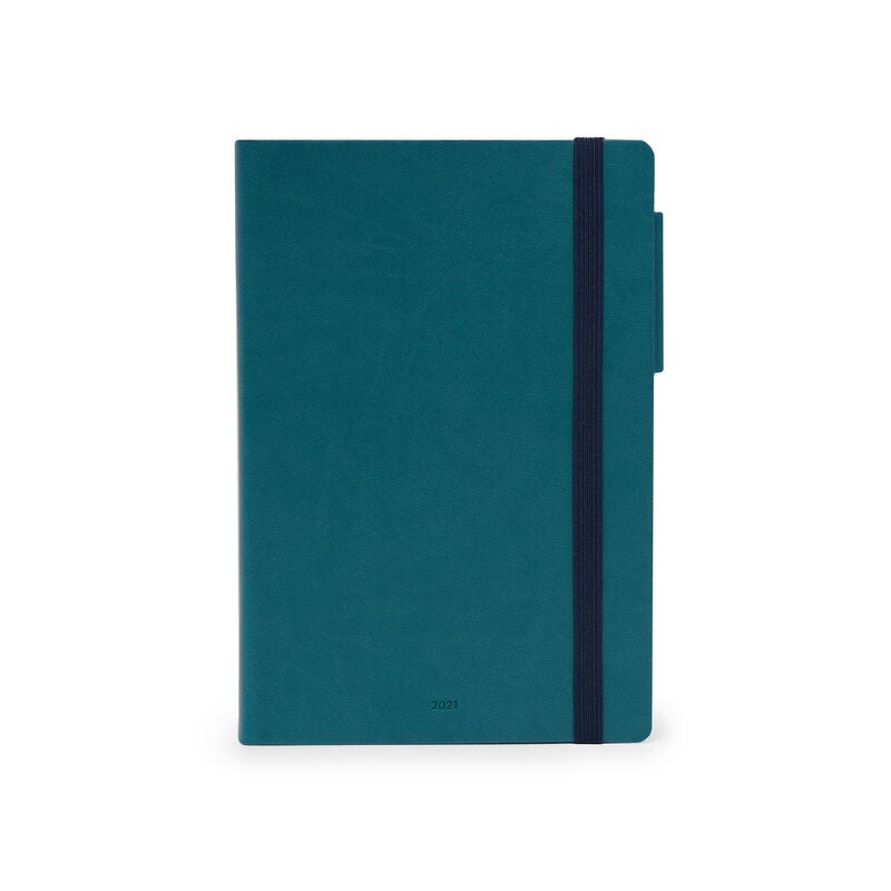 Medium Weekly Diary 2021 Petrol Blue