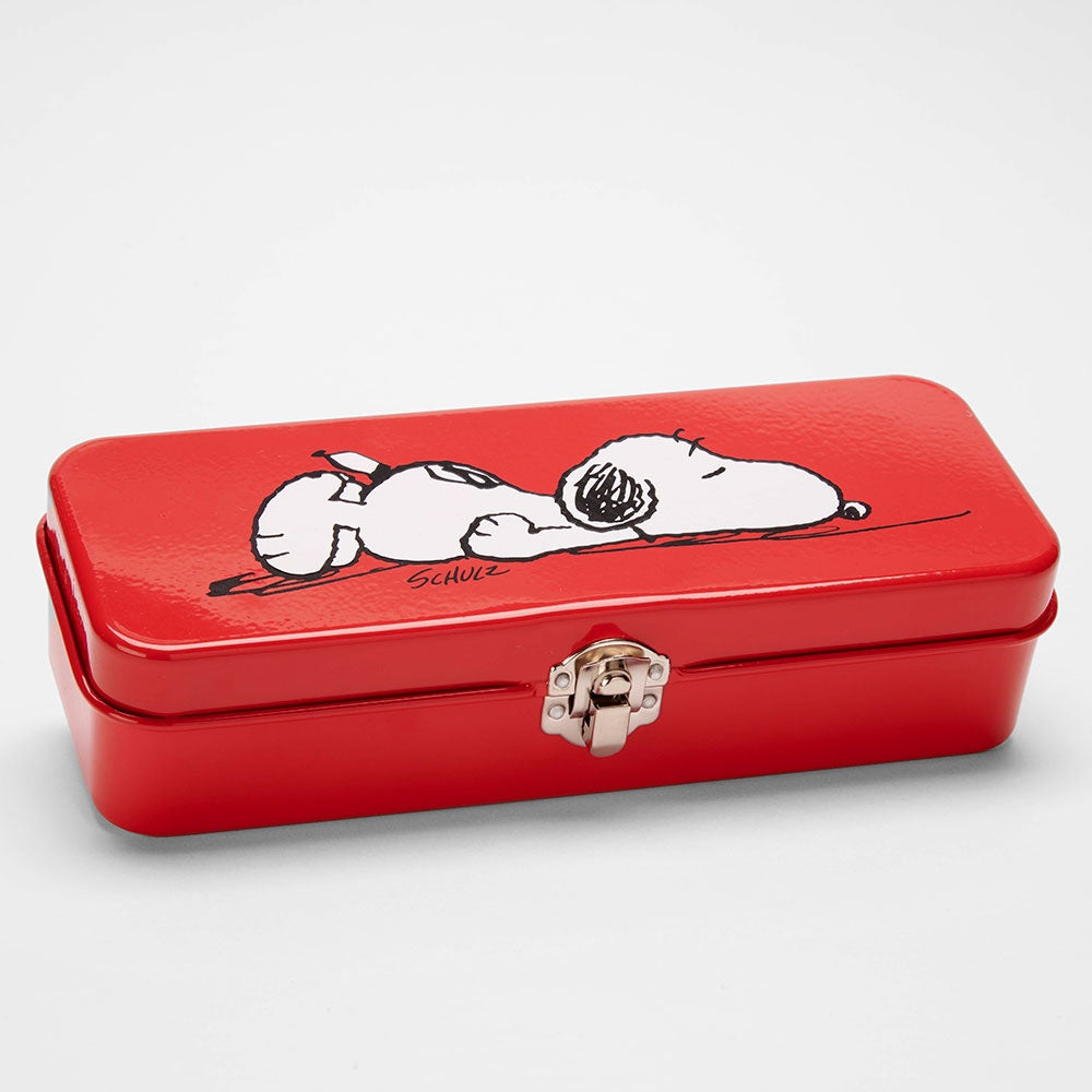 Snoopy Red Pencil Tin