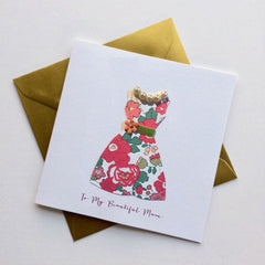 To My Beautiful Mum Dress Card