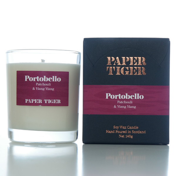 Paper Tiger Portobello Patchouli & Ylang Ylang Medium Candle