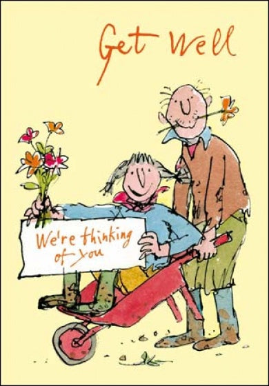 Get Well Wheelbarrow Quentin Blake Card