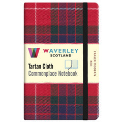 Tartan Cloth Notebook - Fraser Modern Red