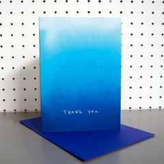 Blue Ombre Thank You Card