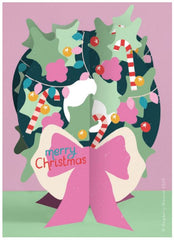 Christmas Wreath Fold-out Christmas Card