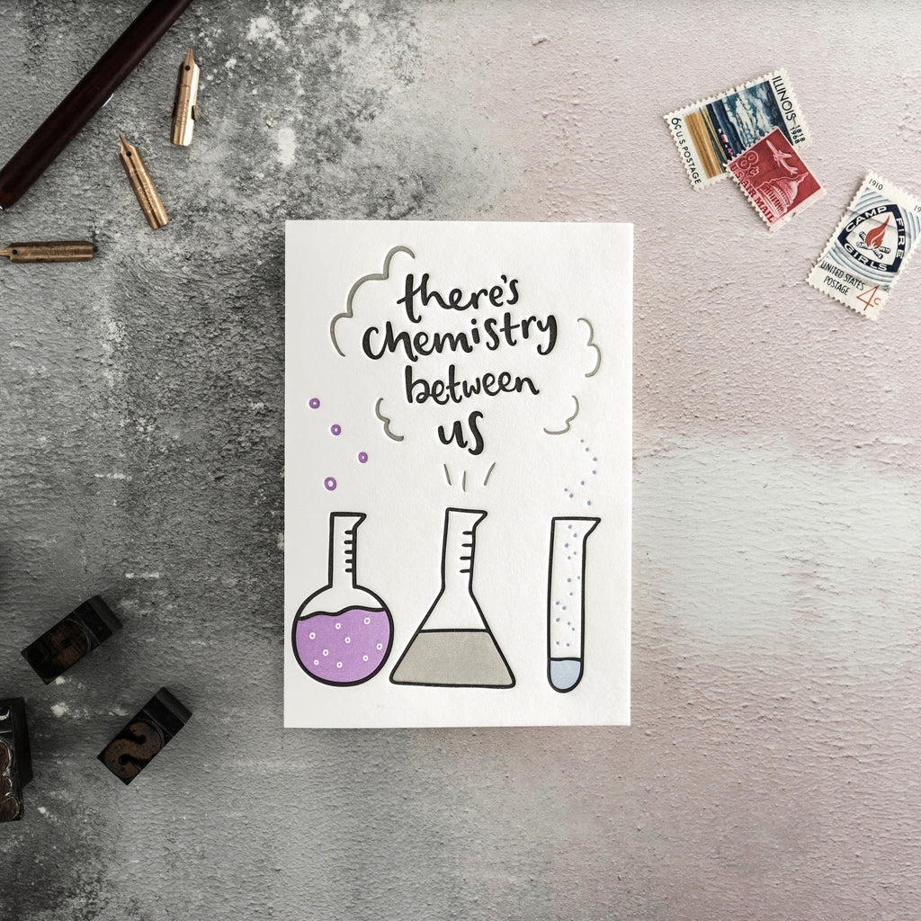 There's Chemistry Between Us Card