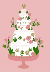 Five Tiered Wedding Cake Card