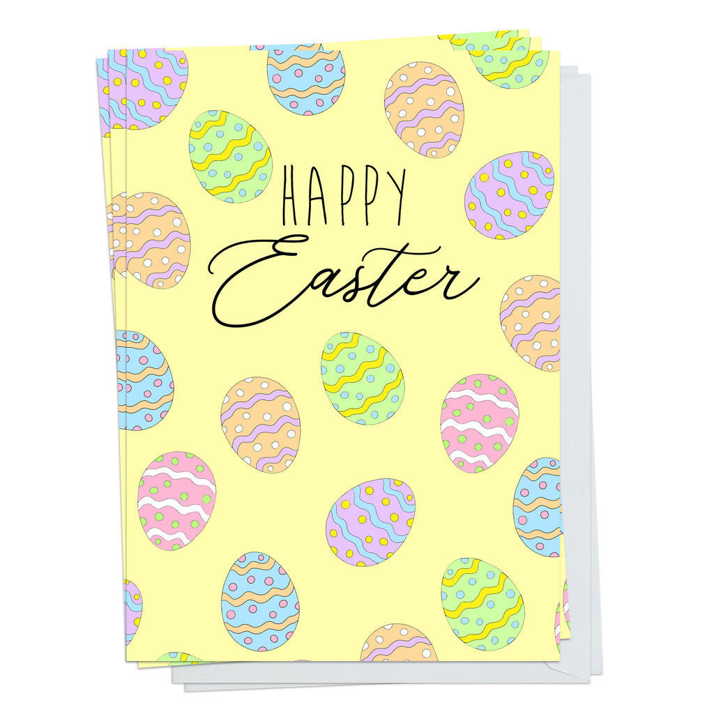 Happy Easter Eggs Pack Of 5 Cards