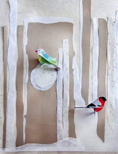Finches Pop Out Card
