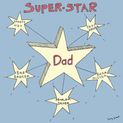 Super-Star Dad Card