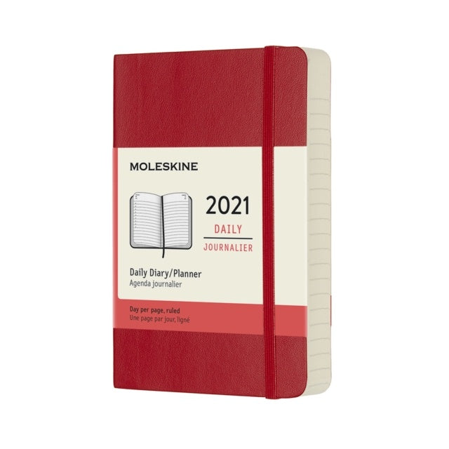 Moleskine 2021 Daily Pocket Softcover Red
