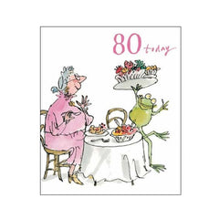 80 Today Quentin Blake Birthday Card