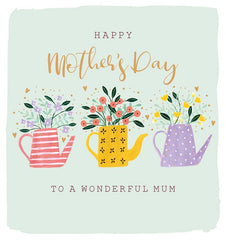Happy Mother's Day Watering Can Card