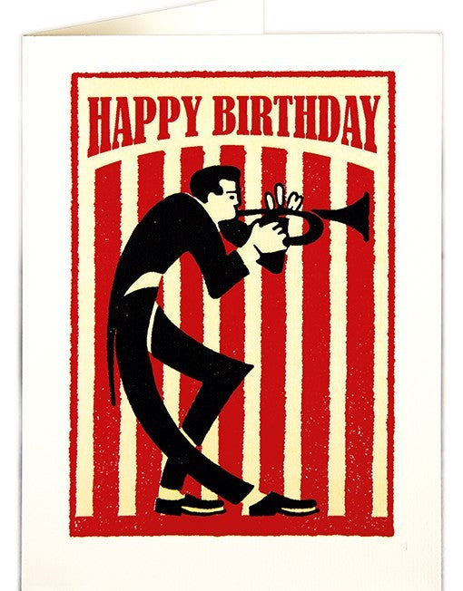 Happy Birthday Jazz Trumpet Card