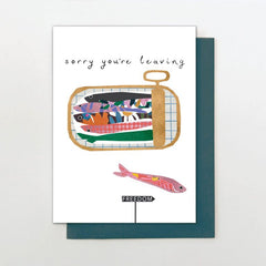 Sardines Sorry You're Leaving Card