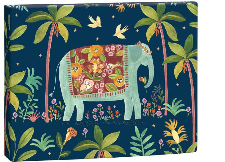 Over The Rainbow Elephant Notecard Box