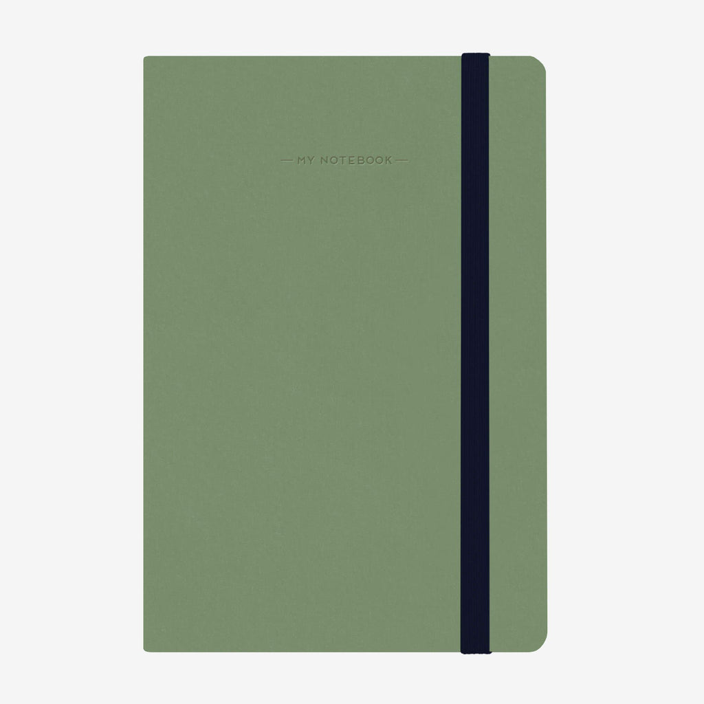 Medium Plain Vintage Green Notebook