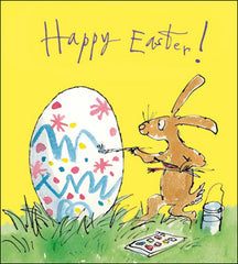 Quentin Blake Egg Painting Easter Card