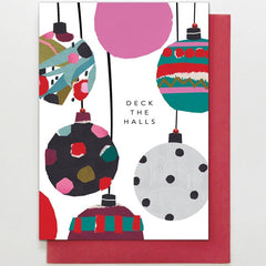 Deck the Halls Baubles Card