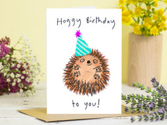 Hoggy Birthday To You Card