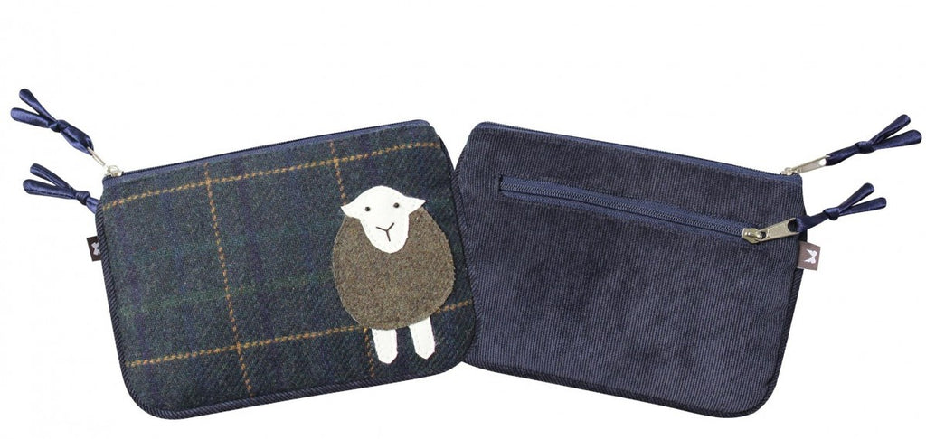 Navy Tweed Sheep Juliet Purse
