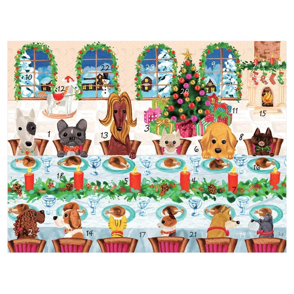 Pet Table Advent Card