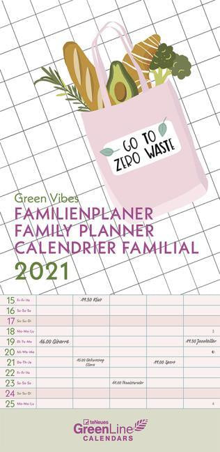 Green Vibes 2021 Family Planner