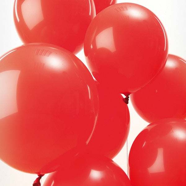 Red Pack of 12 Balloons