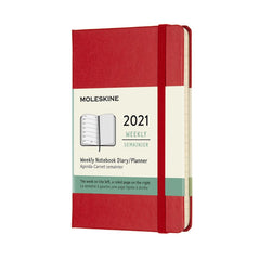 Moleskine 2021 Weekly Notebook Large Softcover Scarlet Red