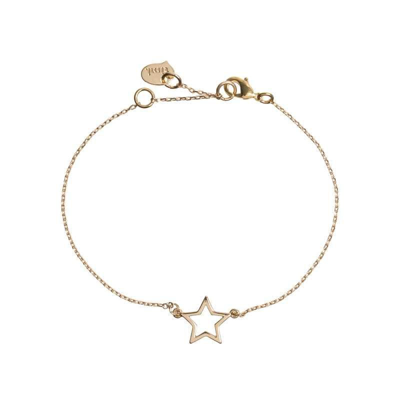 Star Outline Bracelet Gold