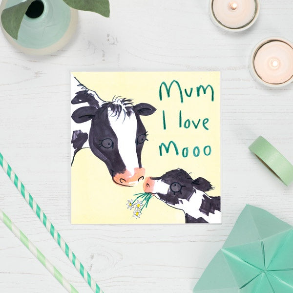Mum I Love Moo Card