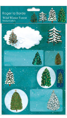 Conifer Tree Sticker Labels