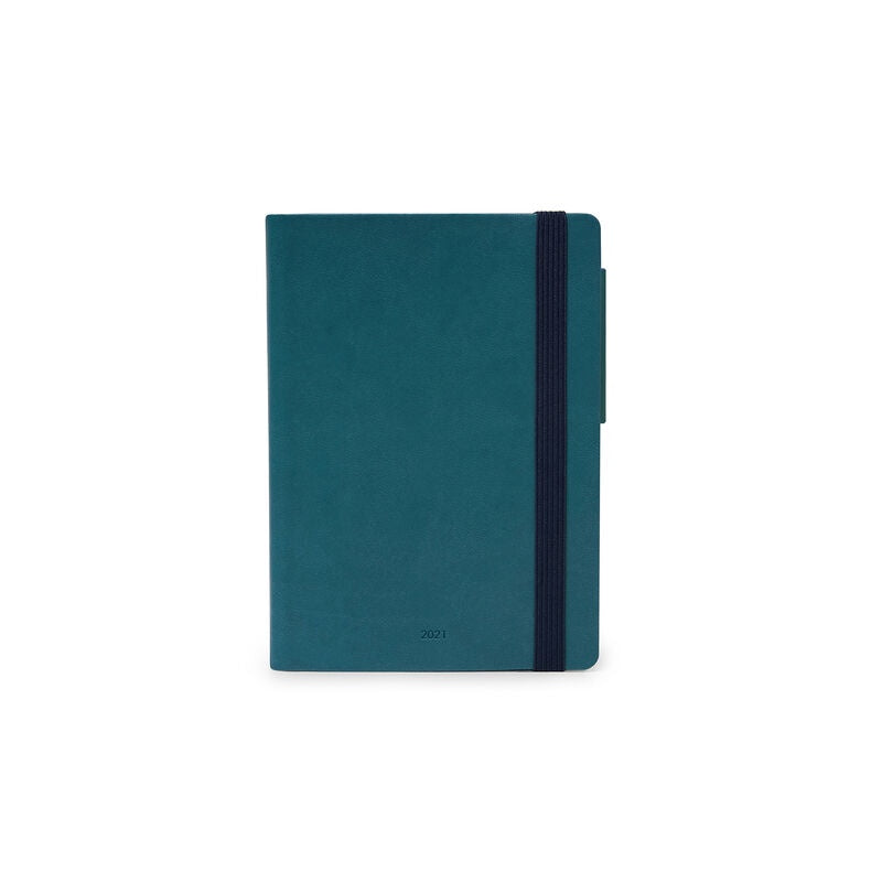 Small Daily Diary 2021 Petrol Blue