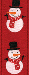 Ribbon - Red Snowman