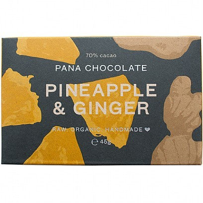 Pineapple and Ginger Organic Chocolate Bar